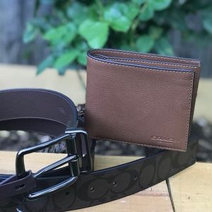 Father's Day Special Coach Men's Wallet & Belt